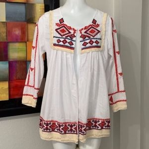 Velzera Embroidered Top Size Large